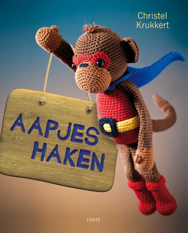 Aapjes haken bij illustrator en ontwerper Christel Krukkert