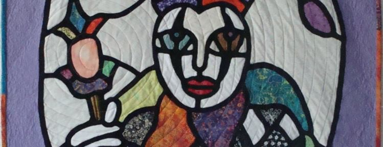 The mirror – stained glass art quilt